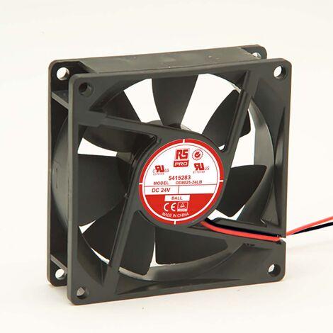 Ventilateur axial RS PRO 24 V c.c., 80 x 80 x 25mm, 26cfm, 960mW