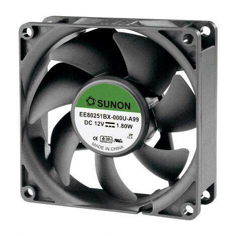 Ventilateur axial Sunon EE80251BX-000U-A99 12 V/DC 76.45 m³/h (L x l x h) 80 x 80 x 25 mm 1 pc(s)