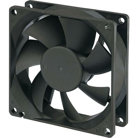 Ventilateur axial TRU COMPONENTS 189139 24 V/DC 51 m³/h (L x l x h) 80 x 80 x 25 mm 1 pc(s)