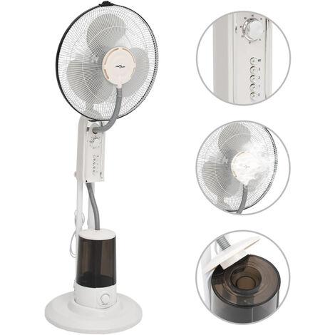 Ventilateur brumisateur sur pied 3 vitesses Blanc