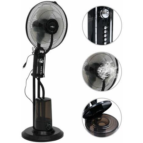 Ventilateur brumisateur sur pied 3 vitesses Noir