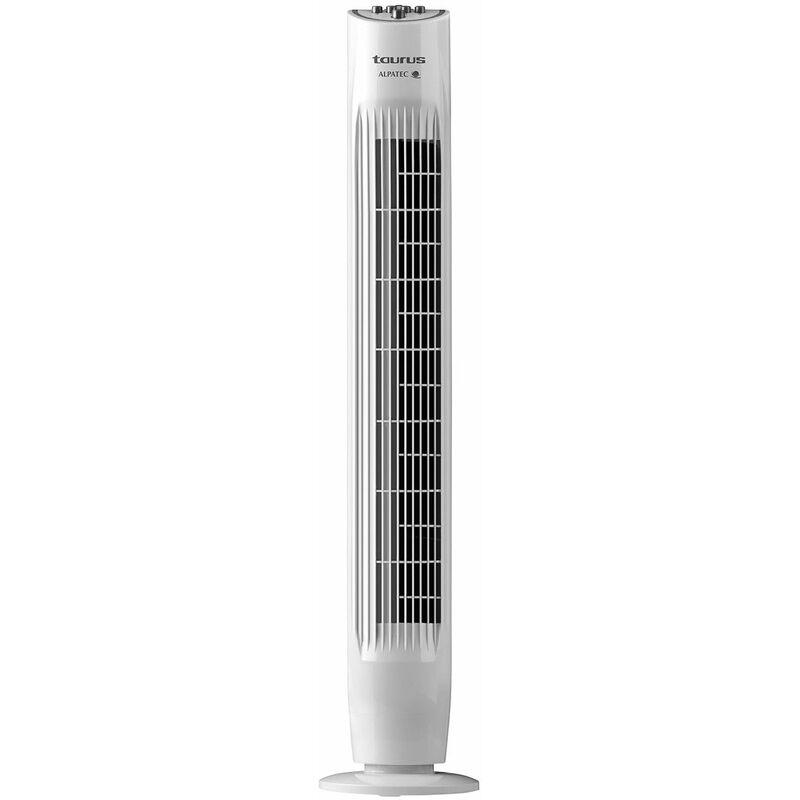 ventilateur colonne 45w 3 vitesses blanc tf3000 taurus alpatec