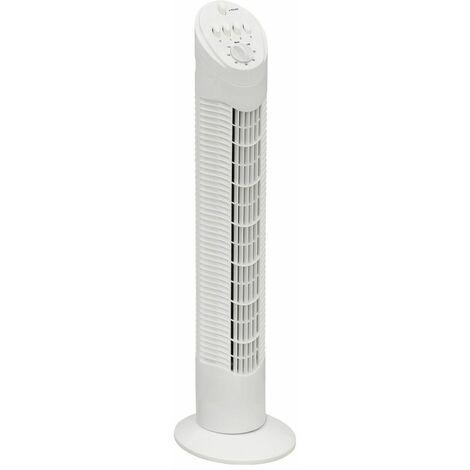 ventilateur colonne 75cm 35w 3 vitesses blanc - aft760w - bestron