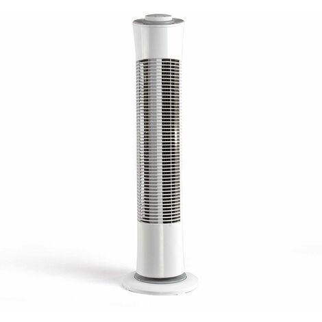 ventilateur colonne 77cm 45w 3 vitesses blanc - dom384w - livoo