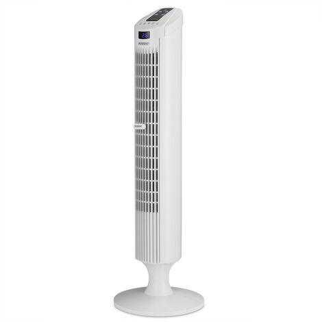 Ventilateur colonne oscillant 84cm fonction turbo télécommande 3 vitesses Ventilateur tour 45W maison intérieur