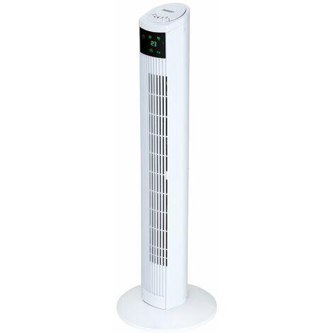 Ventilateur colonne oscillant avec télécommande écran digital fonction turbo 4 vitesses air frais maion