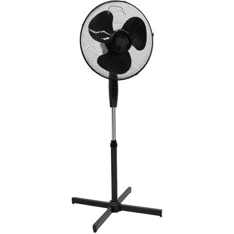 Ventilateur colonne sur pied oscillant 45W minuterie noir reglable piédestal