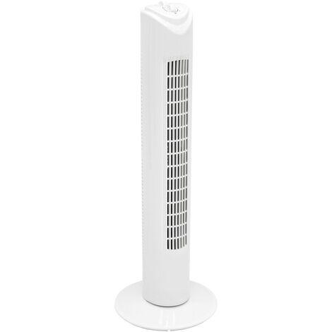 Ventilateur colonne sur pied oscillant minuterie 3 vitesses 81cm blanc 45W