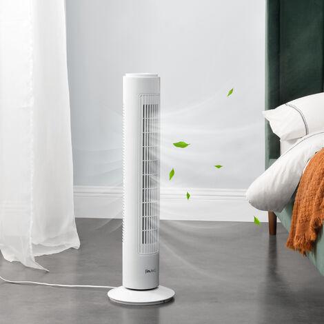 Ventilateur Colonne Tour 3 Vitesses Fonction Oscillation 50 W 73 x 22 x 22 cm Plastique Blanc