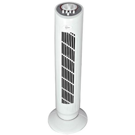 Ventilateur DAKOTA colonne 750 mm 3 Vitesses blanc minuteur 120 min 45 W 230 V - 112310 - Fartools - -