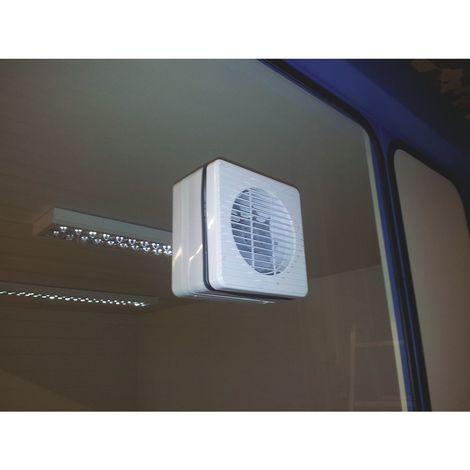 Ventilateur dans la fenêtre - pour bureau d'atelier - rendement 150 m³/h