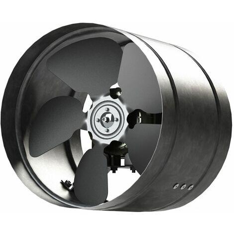 Ventilateur de 250 mm conduit Inline métal zingué ARW canalisation de hotte industrielle