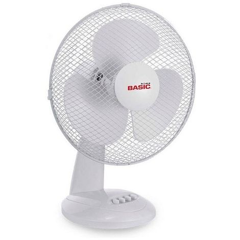 Ventilateur de Bureau Basic Home 35W Blanc