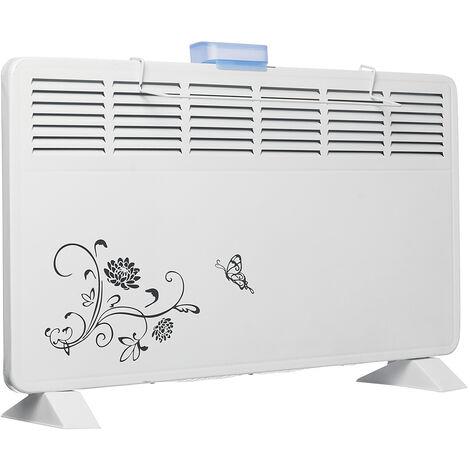 Ventilateur de chauffage électrique 2000W fixé au mur 6 vitesses de sortie d'air