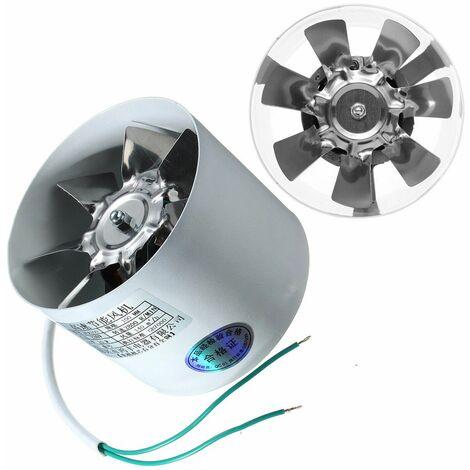 Ventilateur de conduit en ligne de 4 pouces en métal 220V 20W 2800R / Min conduit de ventilation surpresseur ventilateur d'évacuation conduit de ventilation accessoires de ventilateur 10 x 7,5 cm