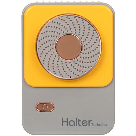 Ventilateur de cou suspendu Ventilateur de sport paresseux portable exterieur Chargement USB Ventilateur etudiant portable, rose