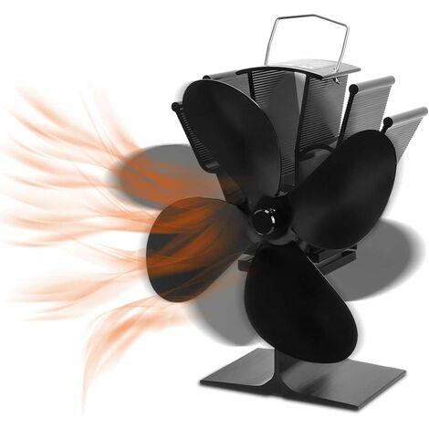 Ventilateur de cuisinière à 4 lames, ventilateur hors tension de protection de l'environnement, Version améliorée de mute, pour poêles à bois de cheminée