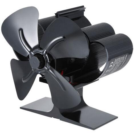 Ventilateur de cuisiniere a 4 pales Souffleur de foyer alimente par la chaleur