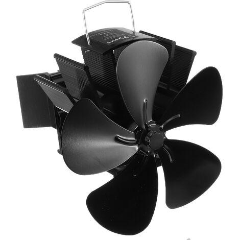 Ventilateur de cuisinière à 5 pales, thermomètre de poêle