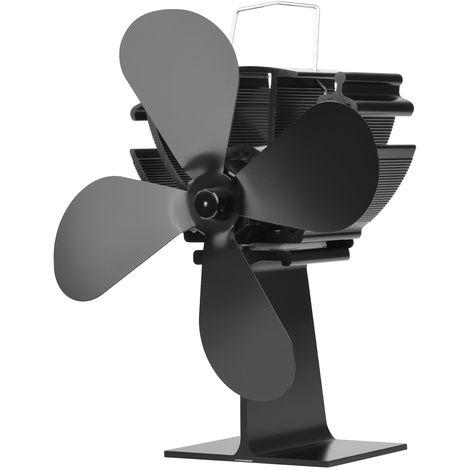 Ventilateur De Foyer De Maison A 4 Pales, Ventilateurs De Distribution De Chaleur Efficaces