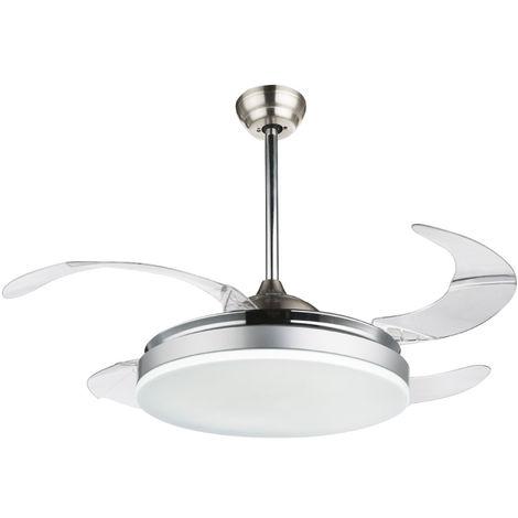 Ventilateur de plafond 70 W avec éclairage LED, D 100 cm CABRERA