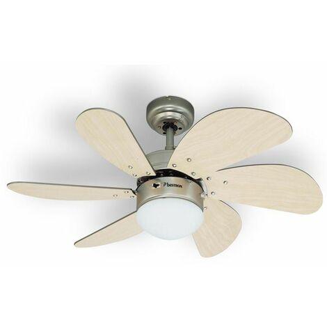 ventilateur de plafond 75cm + lumière - dc30t - bestron