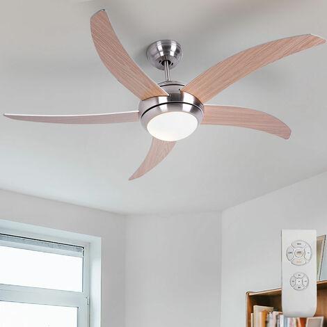 Ventilateur de plafond à LED, argent, marron, télécommande, VT -6053 -5