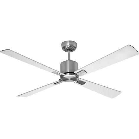 Ventilateur de plafond à pales en bois - Ø hélice 1320 mm - blanc / gris clair