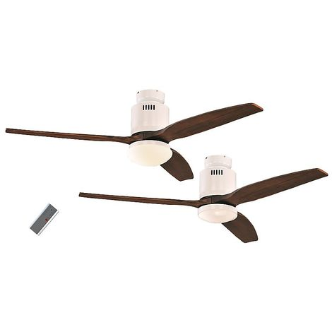 Ventilateur de Plafond Aerodynamix Eco 132cm Chrome Poli Blanc - CASAFAN -