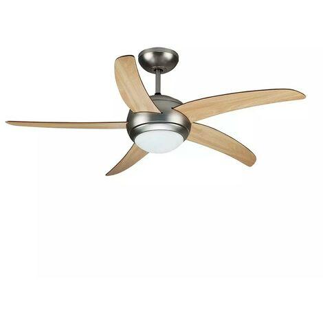 Ventilateur de plafond avec Hublot de 2 culots E27 et sa Télécommande
