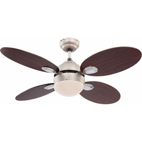Ventilateur de plafond avec interrupteur à tirette et éclairage du mollet