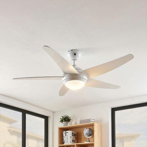 Ventilateur de plafond avec lampe à intensité variable 'Ranja' en bois pour salon & salle à manger