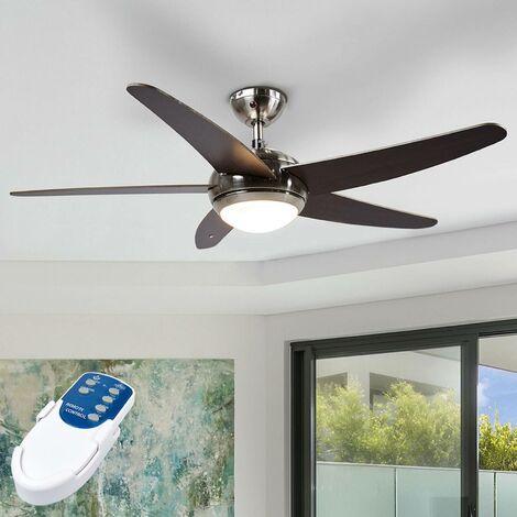 Ventilateur de plafond avec lampe 'Anneka' en bois pour salon & salle à manger