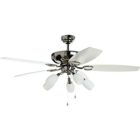 Ventilateur de plafond avec lampe en Bois \