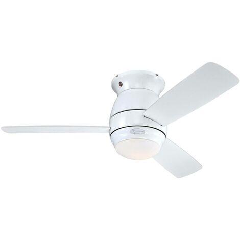 Ventilateur de plafond avec lampe 'Halley' en bois pour salon & salle à manger