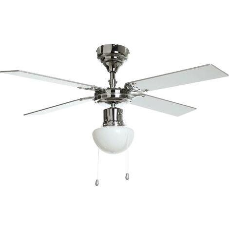 Ventilateur de plafond avec lampe 'Milana' en bois pour salon & salle à manger