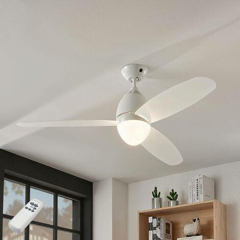 Ventilateur de plafond avec lampe 'Piara' pour chambre à coucher