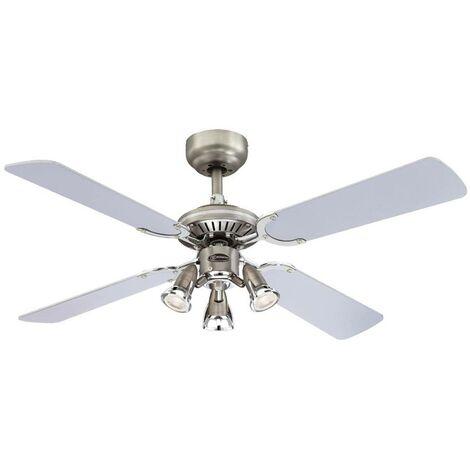 Ventilateur de plafond avec lampe 'Princess Euro' en bois pour salon & salle à manger