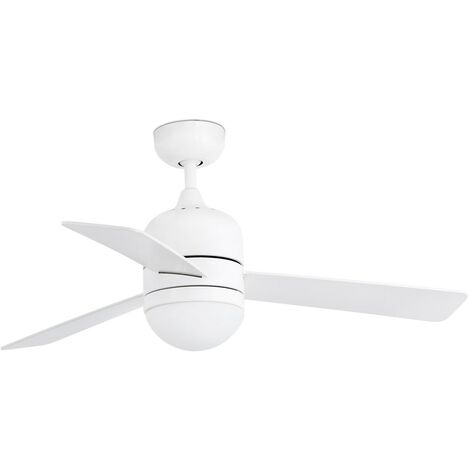 Ventilateur de plafond avec lumière modèle-Cebu-Blanc