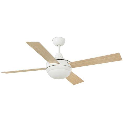 Ventilateur de plafond avec lumière modèle-Icaria-Gris