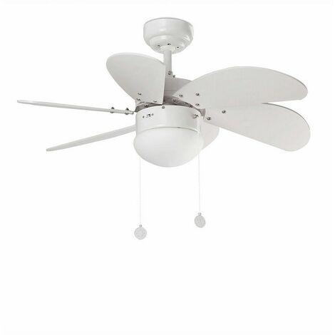 Ventilateur de plafond avec lumière modèle-Palao-Nickel
