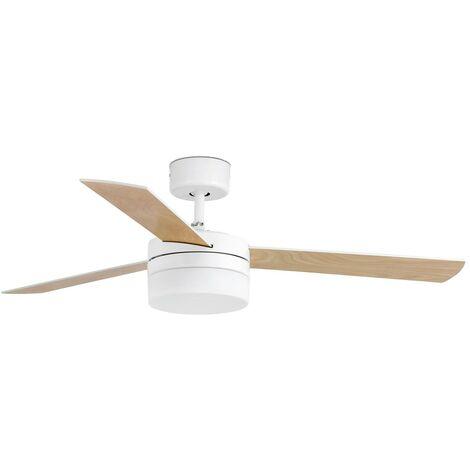 Ventilateur de plafond avec lumière modèle Panay Blanc