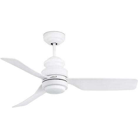 Ventilateur de plafond avec lumière modèle-Phuket-Blanc