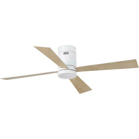 Ventilateur de plafond avec lumière modèle-Timor-Blanc