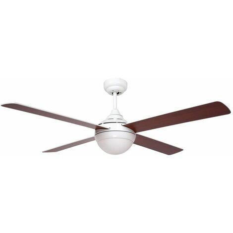 Ventilateur de plafond blanc avec lumièr cm 122x29/42h SULION 072817