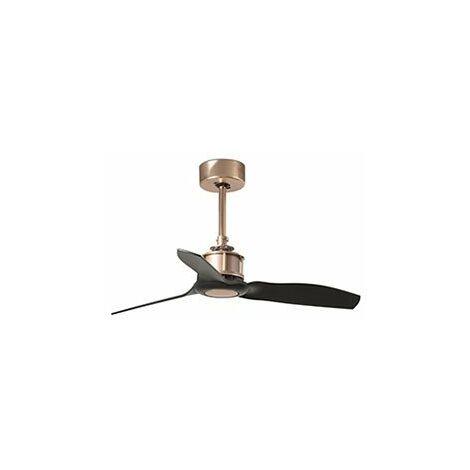Ventilateur de plafond Cuivre et pâles Noir Just Fan - 81CM - Sans ampoule