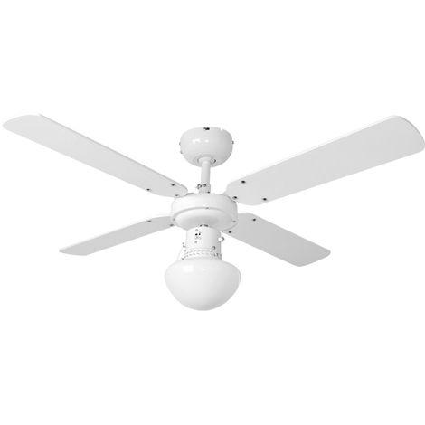 Ventilateur de plafond de 50 watts avec éclairage, 4 ailes réversibles