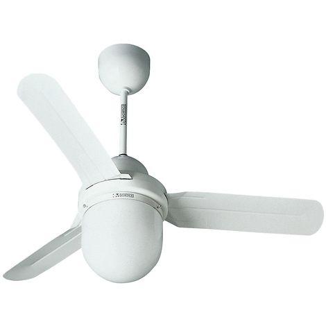Ventilateur de plafond DESIGN 1S/L - Ø hélice 1220 mm - laque blanche - Coloris du boîtier: laqué blanc