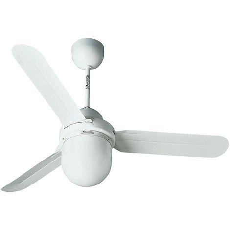 Ventilateur de plafond DESIGN 1S/L - Ø hélice 1420 mm - laque blanche - Coloris du boîtier: laqué blanc