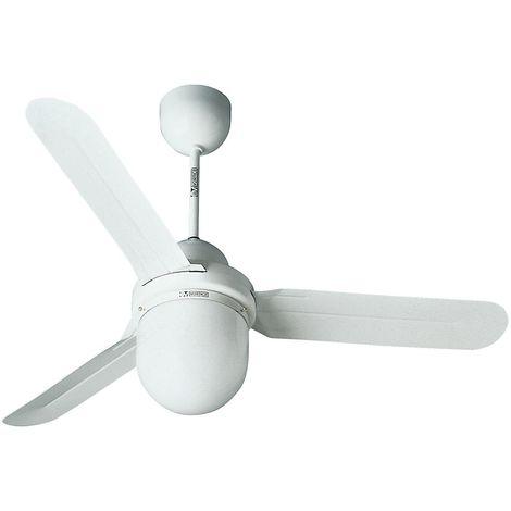 Ventilateur de plafond DESIGN 1S/L - Ø hélice 1600 mm - laque blanche - Coloris du boîtier: laqué blanc